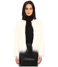 The Kooples Fancy Faux Fur Jacket Ecru Women's Coat Khaki