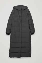 Cos Hooded Long Puffer Coat Black