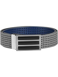 Adidas 3 Stripes Perforated Reversible Belt Grey