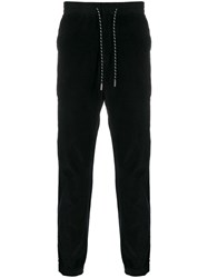 Z Zegna Draw String Ribbed Trousers Black