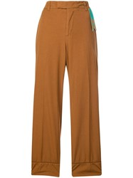 The Gigi Cropped Wide Leg Trousers Brown