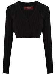 Lilly Sarti Knit Crop Top Black