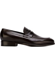 Canali Classic Penny Loafers Brown