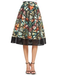Sachin And Babi Noir Tribal Print Midi Ball Skirt