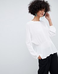 Selected Femme Peplum Blouse Snow White