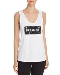 Kenneth Cole Embellished Graphic Tank White