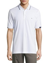 Callaway Short Sleeve Striped Polo Shirt Bright White