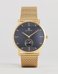 Accurist 7185.01 Mesh Watch In Gold