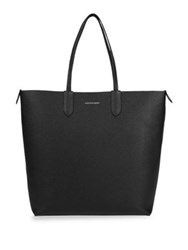 Alexander Mcqueen North South Leather Shopper Tote Black