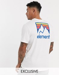 Element Joint T Shirt In White Exclusive At Asos