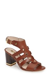 Louise Et Cie Women's Vira Block Heel Sandal Chestnut Leather