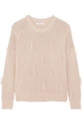 Madewell Tasseled Cotton Sweater Antique Rose