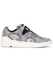 Christian Dior Spider Print Sneakers Men Calf Leather Nylon Rubber 43 Black