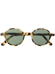L.G.R Reunion Round Frame Sunglasses Brown