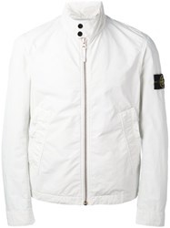 Stone Island Banded Collar Cropped Jacket Men Polyamide Polyester Xl Grey