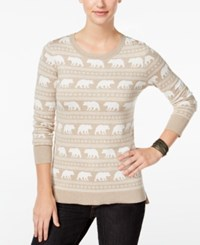 G.H. Bass And Co. Animal Graphic Sweater Heather Dark Sand Combo
