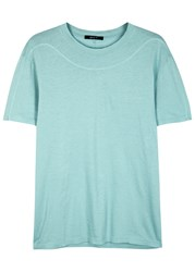 Qasimi Aqua Cotton T Shirt Light Blue