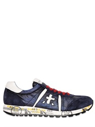 Premiata Lucy Suede And Nylon Sneakers