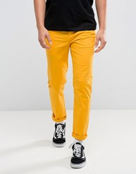 Asos Slim Chinos In Yellow Coleman