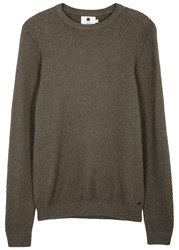 Nn.07 Thomas Brown Textured Knit Jumper