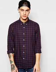 Esprit Check Shirt With Button Down Collar Brown