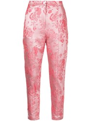 Manning Cartell Metallic Kyoto Calling Floral Trousers Pink And Purple