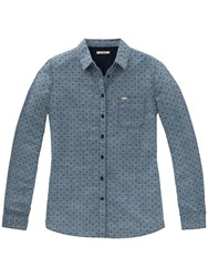 Lee Dobby Spot Shirt Washed Blue