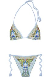 Camilla My Marjorelle Reversible Embellished Triangle Bikini Blue