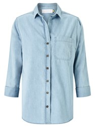 John Lewis Collection Weekend By Florence Easy Fit Shirt Pale Blue