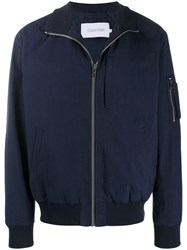 Calvin Klein Relaxed Fit Bomber Jacket Blue