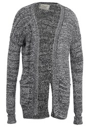 Abercrombie And Fitch Cardigan Heather Grey Mottled Grey