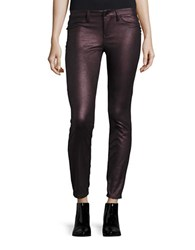 Blank Nyc Metallic Faux Leather Leggings Purple