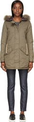 Parajumpers Olive Fur Trimmed Marilyn Army Coat