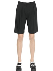 Karl Lagerfeld Heavy Techno Crepe Shorts