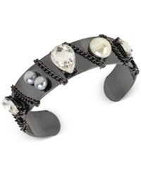 Inc International Concepts Crystal Chain Cuff Bracelet Only At Macy's Black