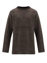 Sasquatchfabrix. Sasquatchfabrix Polka Dot Mohair Blend Sweater Grey
