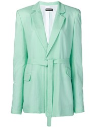 House Of Holland Waist Tied Fitted Blazer Green