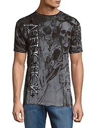 American Fighter Dead Ringer Short Sleeve Graphic Tee Silver