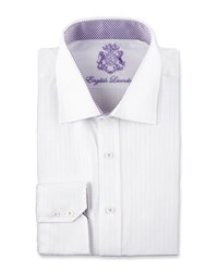 English Laundry Stripe Long Sleeve Dress Shirt White