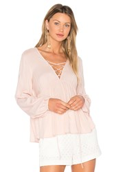 Bcbgeneration Lace Up Blouse Pink