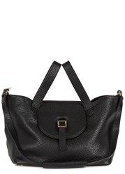 Meli Melo Thela Medium Black Leather Tote