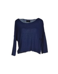 Kristina Ti Sweaters Dark Blue