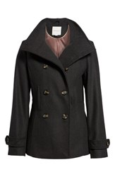 Thread And Supply Double Breasted Peacoat Charcoal