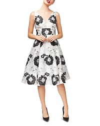 Betsey Johnson Floral Jacquard Dress Black White