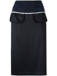 Dkny Inside Out Pencil Skirt Black
