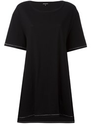 Ann Demeulemeester Cut Out Back T Shirt Black