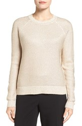 Ivanka Trump Women's Chain Mail Metallic Knit Sweater Crystal