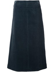 H Beauty And Youth Corduroy A Line Skirt Blue