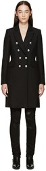 Balmain Black Double Breasted Classic Coat