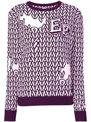 Opening Ceremony Crew Jumper Pink Purple